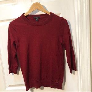 J. Crew red tippi sweater classic wool